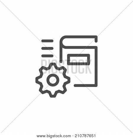 Technical documentation line icon isolated on white. Vector illustration