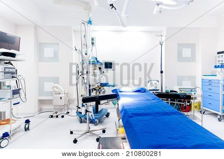Interior Details Of Modern Hospital - State Of The Art Healthcare Clinic With Emergency Room