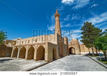 Jame mosque at Nain is one of the oldest mosque in Iran and its octagonal minaret was added to the mosque almost 700 years ago.