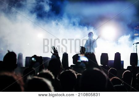 Silhouettes Of People In Concert