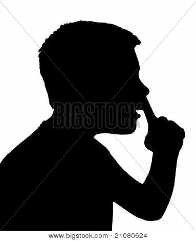 Isolated Boy Child Gesture Picking Nose