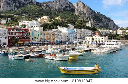 Beautiful view of Capri Marina Grande Campania Italy