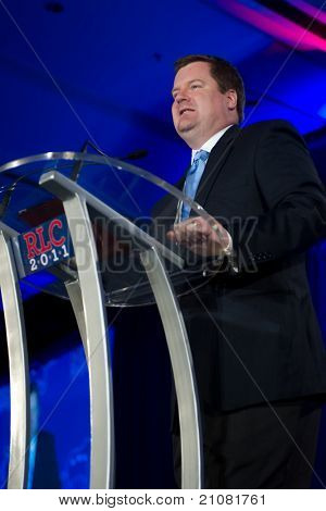 NEW ORLEANS, LA - JUNE 16: Erick Erickson of RedState.com addresses the Republican Leadership Conference on June 16, 2011 at the Hilton Riverside New Orleans in New Orleans, LA.