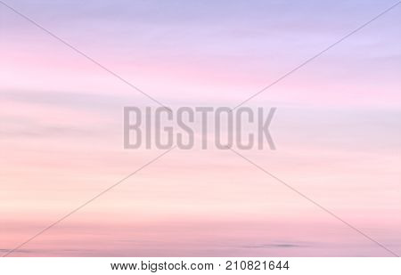 Tender colorful gradient of the sky at the cloudless sunset