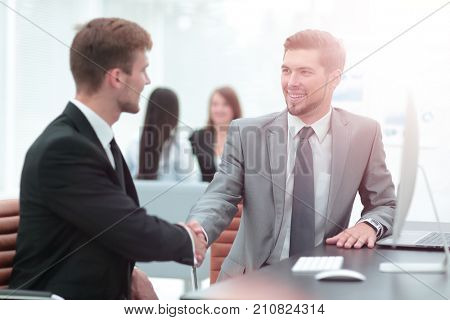 Business people at work. Two business people in formalwear shaki