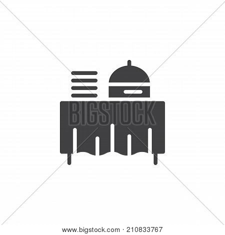 Setout icon vector, filled flat sign, solid pictogram isolated on white. Buffet self service restaurant symbol, logo illustration.