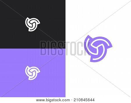 Abstract vector business logo element. Swirl logotype idea. Hurricane Symbol.