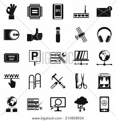 Sustenance icons set. Simple set of 25 sustenance vector icons for web isolated on white background