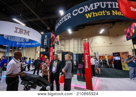 LAS VEGAS NV - JUNE 10 2013: Booth of Smart Computing at exhibition in frame of IBM Edge 2013 conference on June 10 2013 in Las Vegas NV
