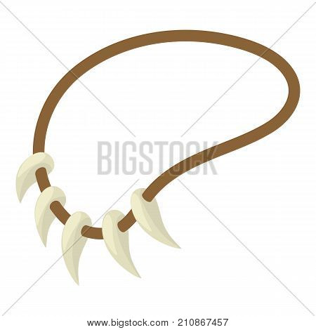 Tooth necklace icon. Isometric illustration of tooth necklace vector icon for web