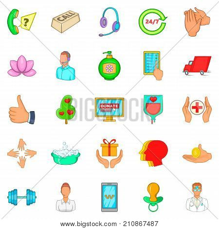Fend icons set. Cartoon set of 25 fend vector icons for web isolated on white background