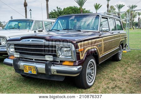 Off-road Jeep Grand Wagoneer Presented On Annual Oldtimer Car Show, Israel