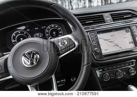 Volkswagen, Steering Wheel With Logotype