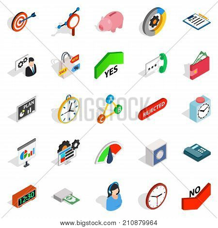 Reciprocity icons set. Isometric set of 25 reciprocity vector icons for web isolated on white background