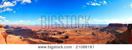grand view of canyonland national park