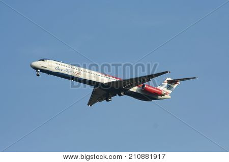 Hs-oma Md-82 Of One Two Go Airline ( Low-cost Airline)