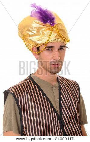 Handsome young man wearing a sultan's hat poster