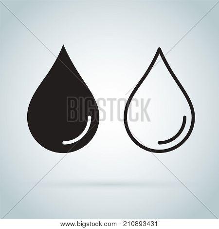 Water drop - Vector icon. Drop line icon
