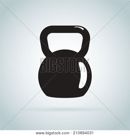 Kettlebell vector icon. Weight symbol. Healthy lifestyle and sport concept