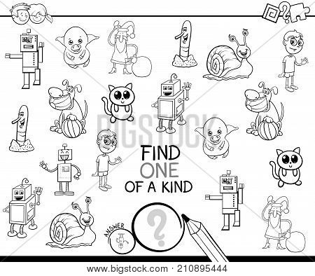 One Of A Kind Cartoon Game Coloring Book
