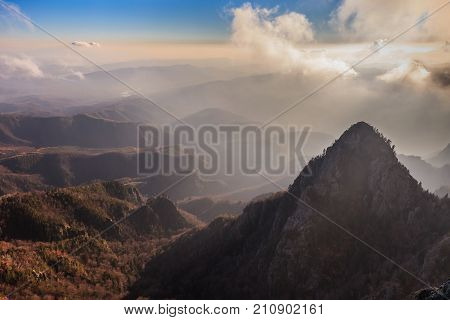 late autumn in Cozia National Park Romania