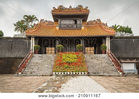 Pagoda At Khiem Tomb Of Tu Duc In Hue Vietnam