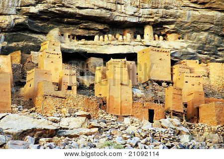 Close Up Of Dogon And Tellem Houses