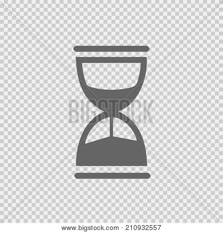 Hourglass vector icon eps 10. Sand clock simple isolated outline illustration.