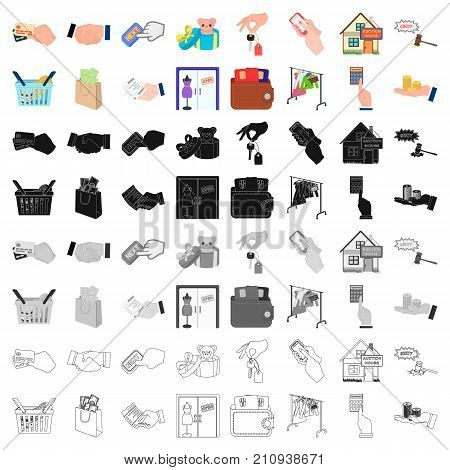 Credit, card, money, bargain, calculator, auction, shop.E- commerce set collection icons in cartoon style vector symbol stock illustration .
