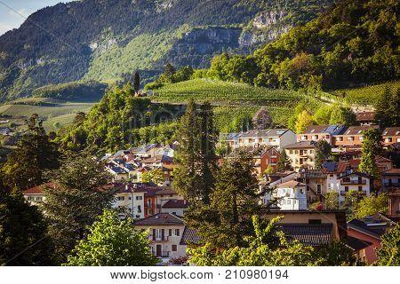 Alpine Town In Summer Light