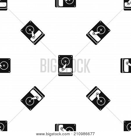 HDD pattern repeat seamless in black color for any design. Vector geometric illustration