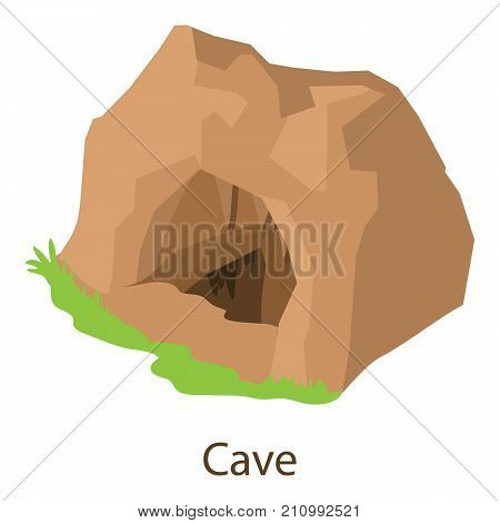 Deep cave icon. Isometric illustration of deep cave vector icon for web