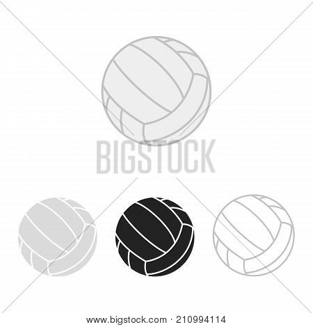 Volleyball ball set. Vector silhouettes of a volleyball balls. Vector icons isolated on white background. Vector collection in flat style.