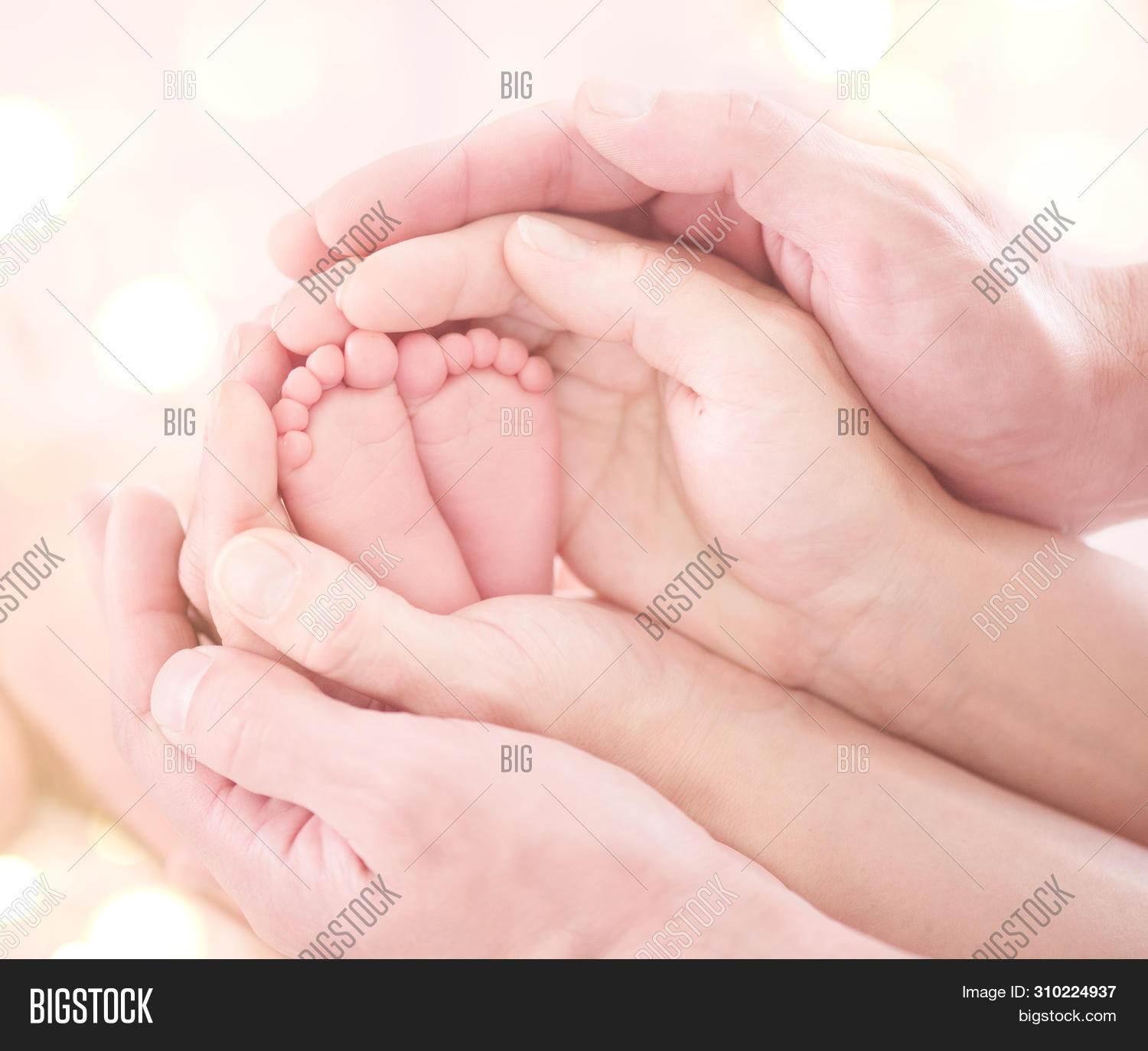 Baby Feet Mother Image Photo Free Trial Bigstock