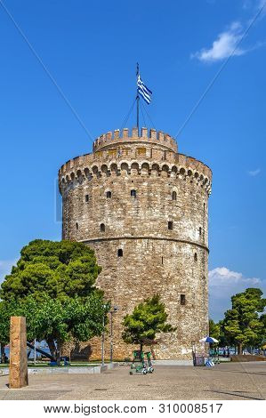 White Tower Of Thessaloniki Is A Monument And Museum On The Waterfront Of The City Of Thessaloniki,