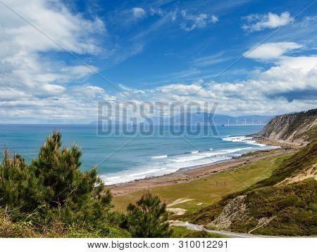 Beach Azkorri Or Gorrondatxe In Getxo Town, Biscay, Basque Country, Spain.
