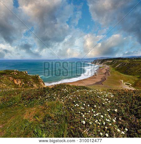 Beach Azkorri Or Gorrondatxe In Getxo Town, Biscay, Basque Country (spain).