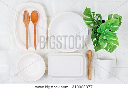 Eco Friendly Biodegradable Paper Dishes And Glass Collection.