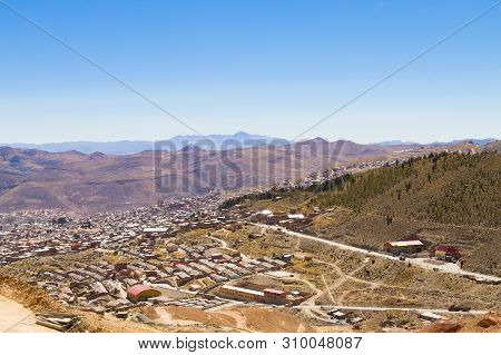 Potosi Aerial View, Bolivia. Bolivian Mining City