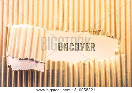 Uncover Wording On A Rolled Up Torn Paper In View