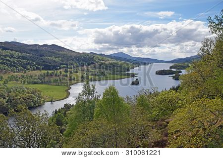 Queens View, Tay Forest Park, Pitlochry, Highland Perthshire, Scotland