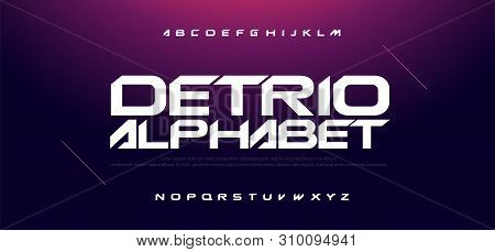 Sport Modern Technology Alphabet Font. Typography Fonts For Movie Technology, Sport, Game, Motorcycl