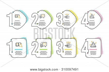 Heart, Search Book And Consolidation Icons Simple Set. Pyramid Chart Sign. Star Rating, Online Educa