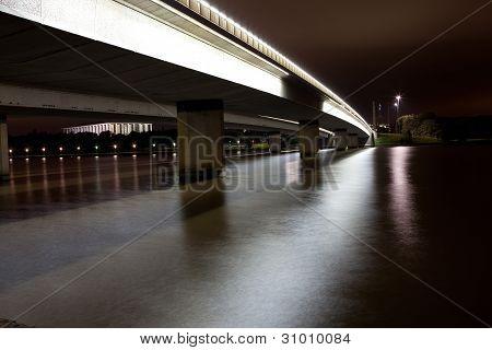 Parliament House National Library Bridge Night