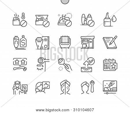Microneedling Well-crafted Pixel Perfect Vector Thin Line Icons 30 2x Grid For Web Graphics And Apps