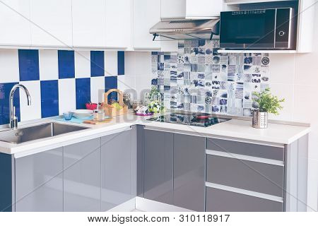 Electric Stove. Frying Pan Is Placed On A Modern Electric Stove, Black Induction Stove, Cooker, Hob