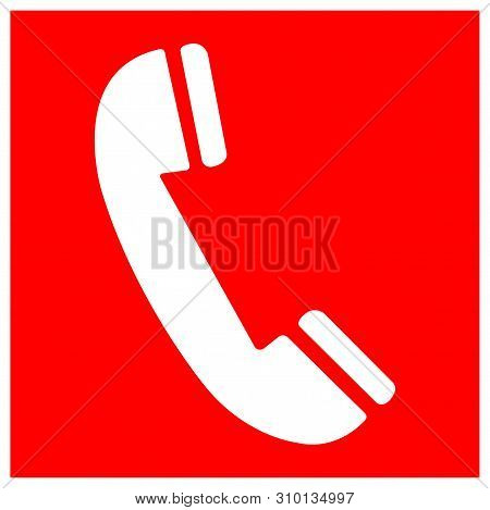 Fire Phone Symbol Sign Isolate On White Background,vector Illustration Eps.10