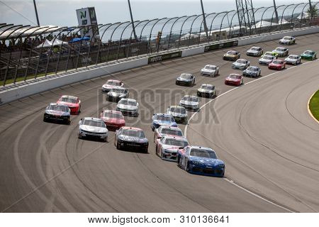 June 29, 2019 - Joliet, Illinois, USA: Jeffrey Earnhardt (81) battles for position for the Camping World 300 at Chicagoland Speedway in Joliet, Illinois.