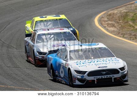 June 23, 2019 - Sonoma, California , USA: Ryan Newman (6) battles for position for the TOYOTA/SAVE MART 350 at Sonoma Raceway in Sonoma, California .