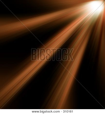 orange light background poster
